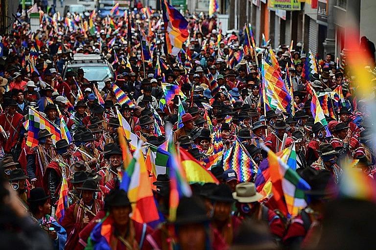 Bolívia, manifestação indígena