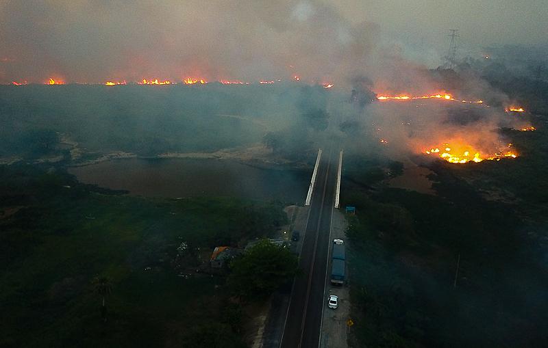 O Pantanal queima. O fogo já atinge 10% da maior área alagada do planeta