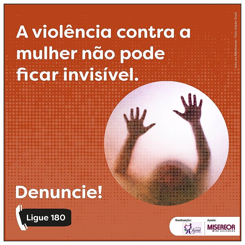 Post de divulgação, violência contra a mulher