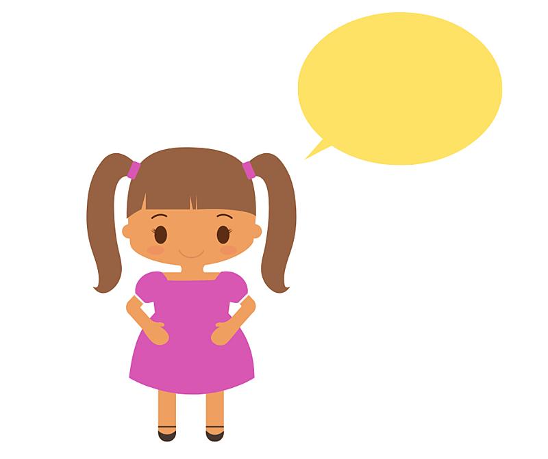 ilustração criança falando
