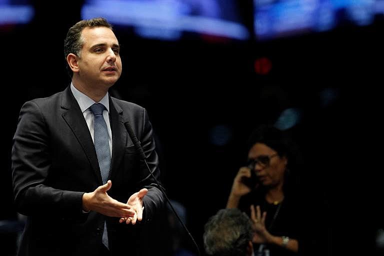 Apoiado por Bolsonaro, Rodrigo Pacheco (DEM-MG) assumiu presidência do Senado em fevereiro