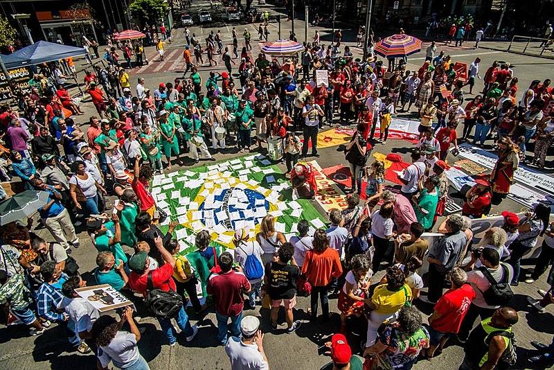 foto de manifestaão do grito dos excluídos 2018