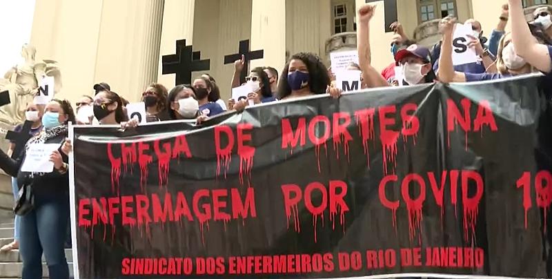 protesto saúde