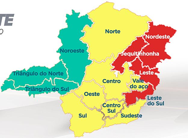 mapa minas covid